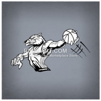 Wolverine clipart indian basketball Wolverine Rivalart on Slam Wolverine