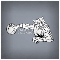 Wolverine clipart indian basketball Wolverine com Rivalart Basketball Clipart
