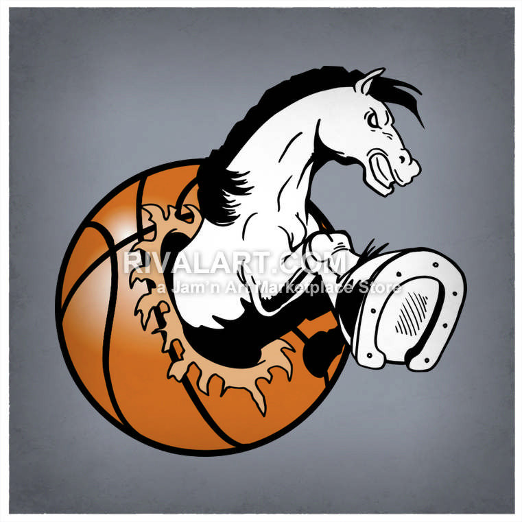 Wolverine clipart indian basketball Basketball Horse Vector A Out