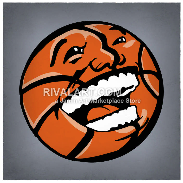 Wolverine clipart indian basketball Basketball Laughing Vector Laughing Face