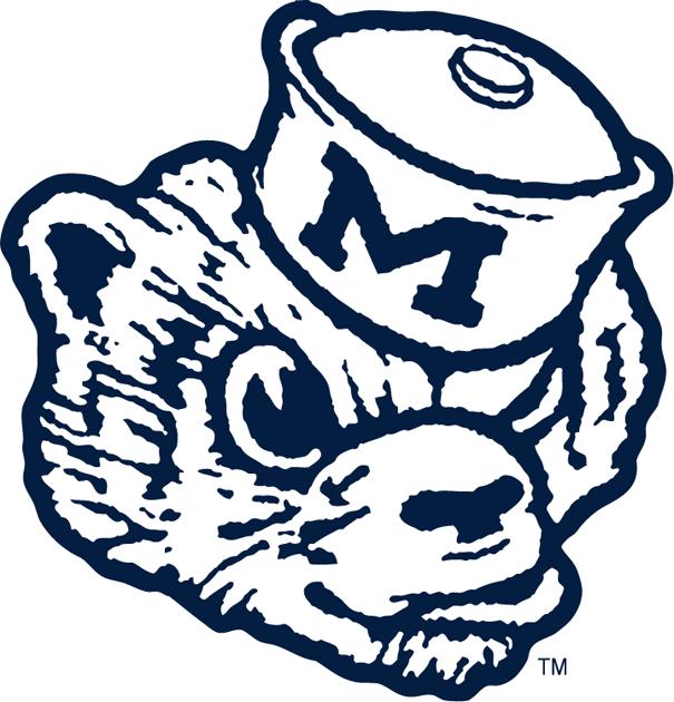 Wolverine clipart old school (1948) (1948) Logo: Logo Michigan