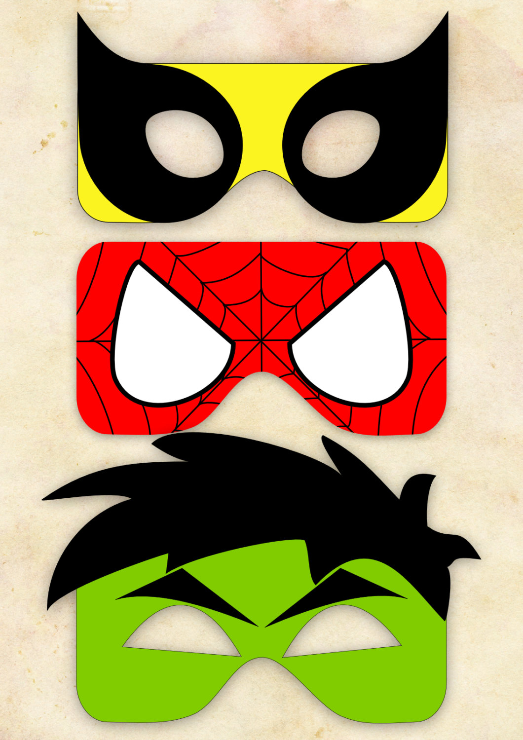 Wolverine clipart party mask Wolverine Wolverine One Cut Spiderman