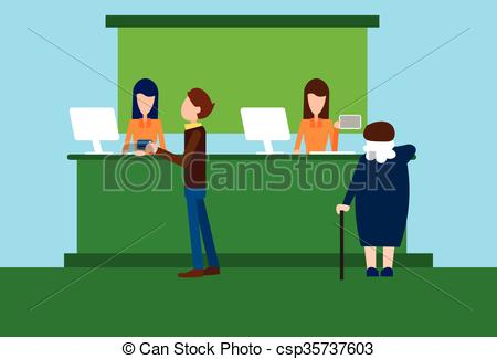 Woman clipart banker Office Bank Woman Worker Bank