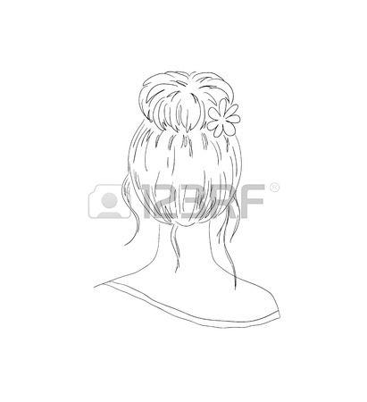 Woman clipart black hair Black black  clipart rolling