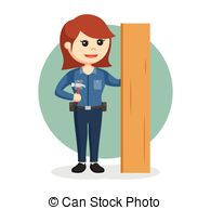 Woman clipart carpenter Female Vector Woman Carpenter and