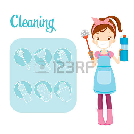 Woman clipart cleaning toilet Stock girl 27 clipart Cliparts