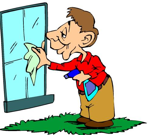 Windows clipart animated Window Cleaning clipart the window