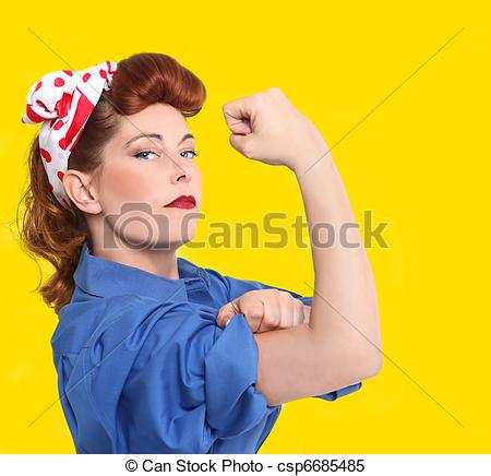 Woman clipart factory worker Worker 65 Redheaded 1950 Era