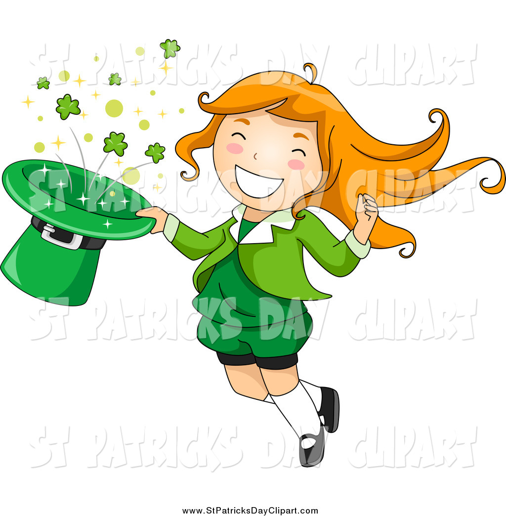 Woman clipart leprechaun Day Patrick's Day Red Hat