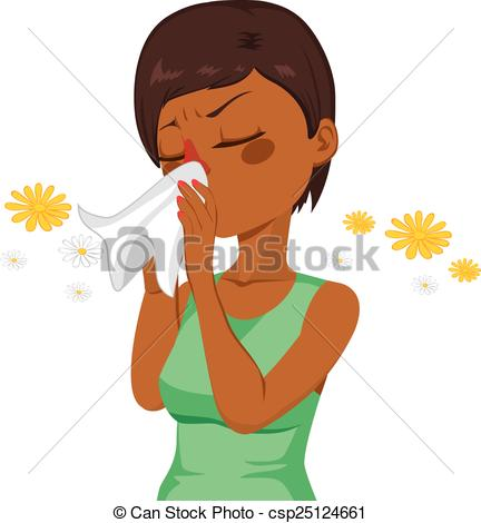 Woman clipart nose Blowing Nose American Blowing African