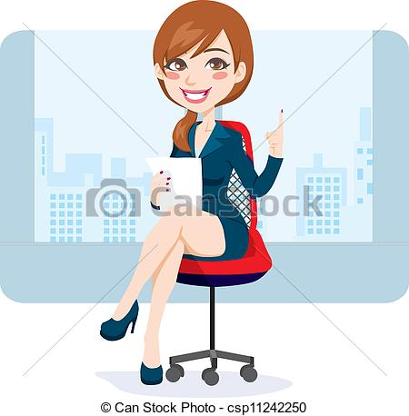 Brunette clipart female manager Of brunette  Woman Beautiful