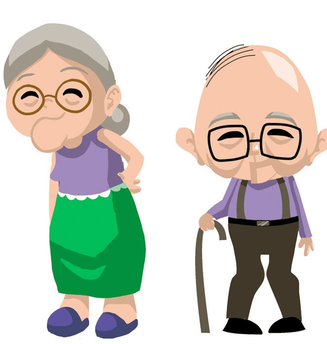 Woman clipart old age Old fighting and man and