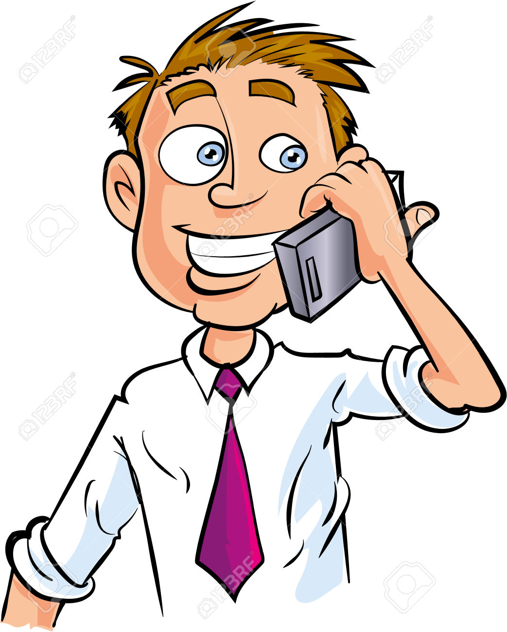 Woman clipart phone call Making Worker Call Isolated Phone