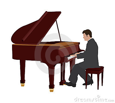 Woman clipart pianist Player  giraffe playing clipart