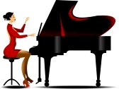 Woman clipart pianist Playing%20piano%20clipart Clipart Playing Clipart Free