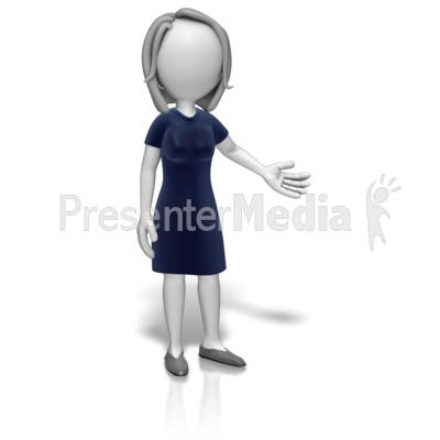 Woman clipart presenter Presenting Templates Animations Presentation 12616