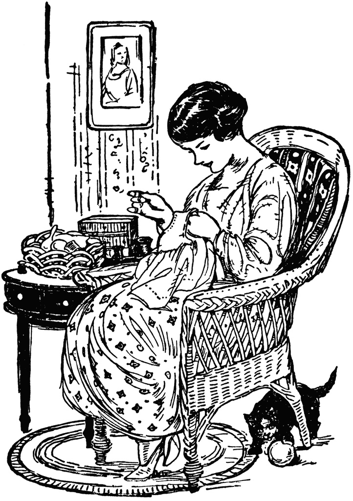 Woman clipart quilting On this Find clipart best