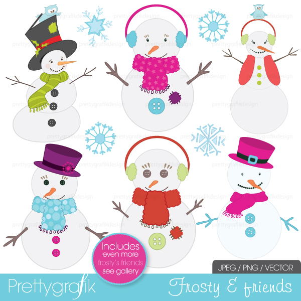 Woman clipart snowman Use clipart snowman  commercial