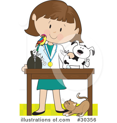Woman clipart veterinarian #30356 Royalty Bell Veterinarian Illustration