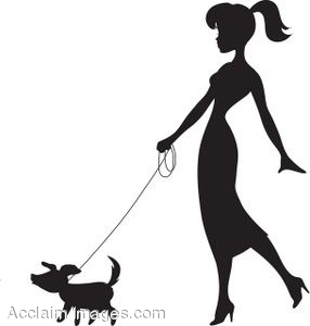 Woman clipart walking dog Art Women  Victorian+Silhouette+Clip+Art Silhouettes