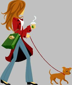 Woman clipart walking dog Walking they of our profile