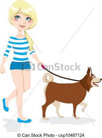Woman clipart walking dog Woman Dog information Walking Walking