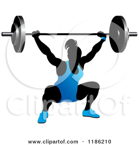 Woman clipart weight Silhouette Free Women lifting