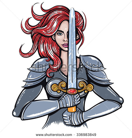 Woman Warrior clipart Stock & Vector Vectors &