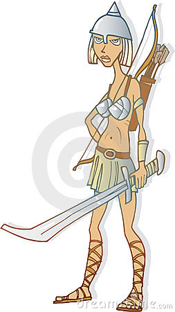 Woman Warrior clipart Art Free clip Woman Warrior