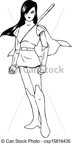 Woman Warrior clipart drawing woman Of  woman Woman illustration