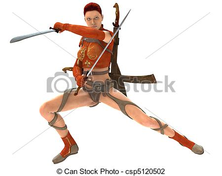 Woman Warrior clipart drawing woman Woman 3D with Woman of