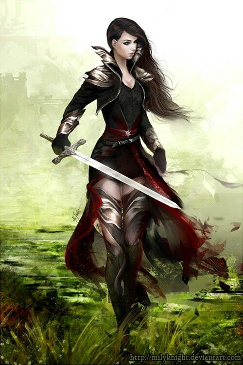 Woman Warrior clipart Names Fantasy Female milyKnight on