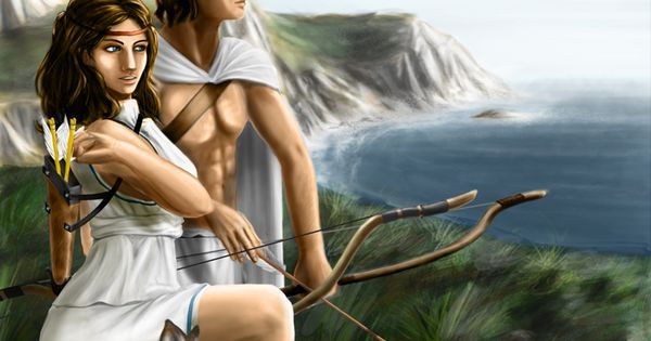 Woman Warrior clipart greek mythology 2 by Artemis Mythology and