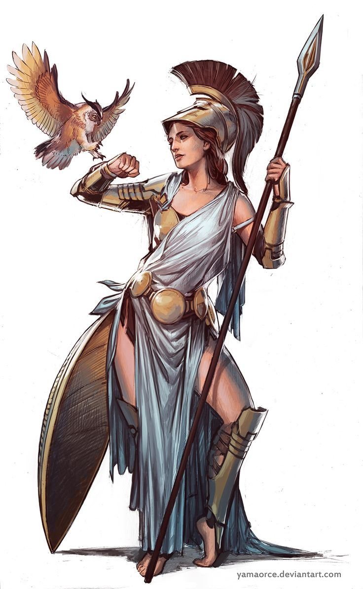 Woman Warrior clipart greek mythology Warrior female god ideas Athena