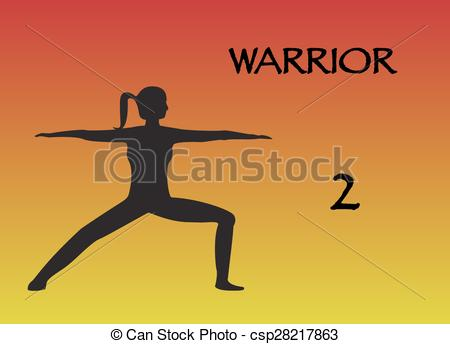Woman Warrior clipart line art Yoga Clip Woman woman yoga