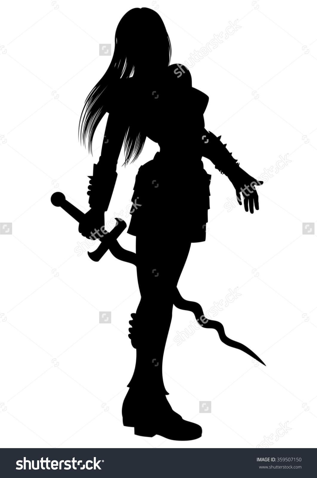 Woman Warrior clipart silhouette Warrior Woman Clipart Woman Clipart
