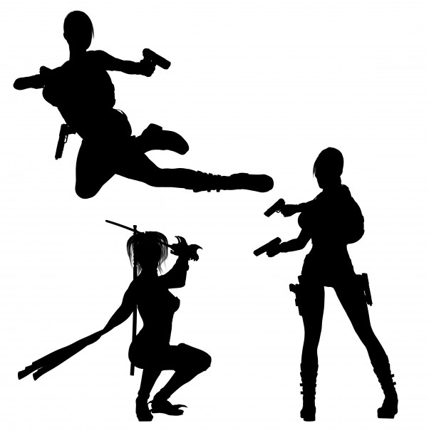 Woman Warrior clipart silhouette Domain  Public Free Pictures