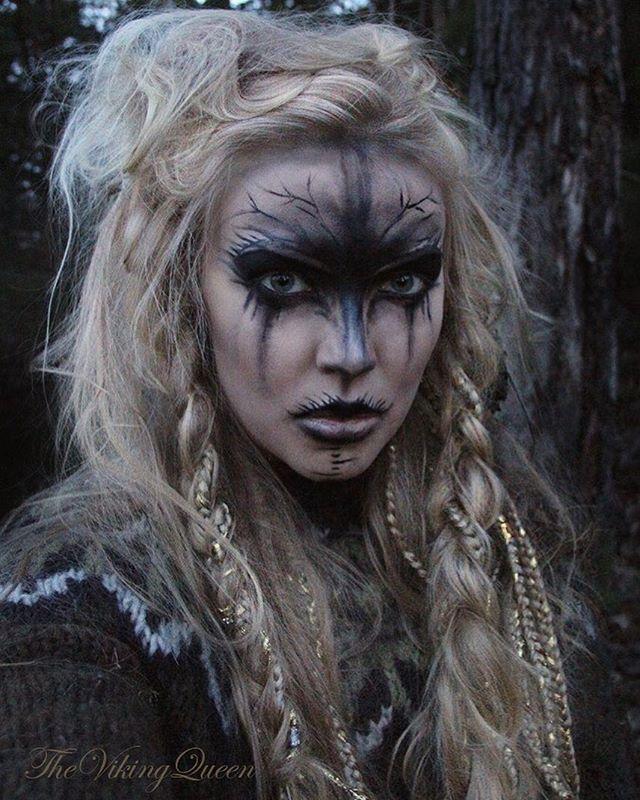 Woman Warrior clipart viking head CostumeWitch Instagram Sól MakeupTroll Viking