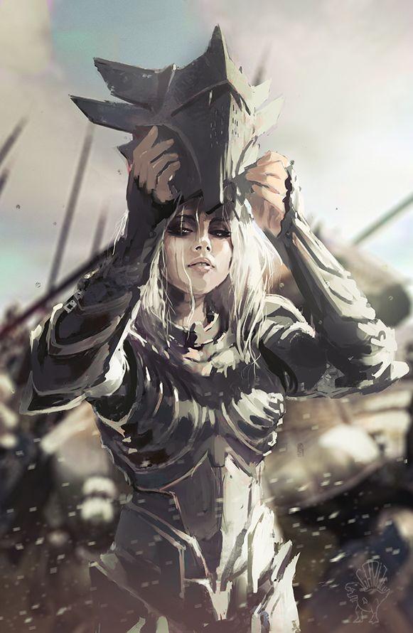 Woman Warrior clipart woman soldier Warrior mercenary girl on carlosgarijo