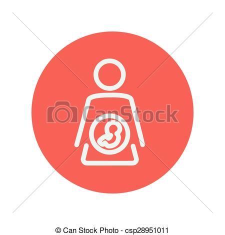 Womb clipart embryo  mother icon line in