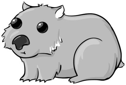 Wombat clipart Free Panda Clipart Clip Wombat