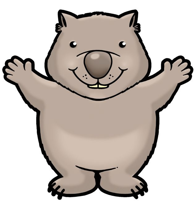 Wombat clipart WOMBATS about on wombat cute