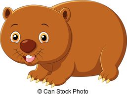 Wombat clipart Vector Wombat clipart vector Wombat