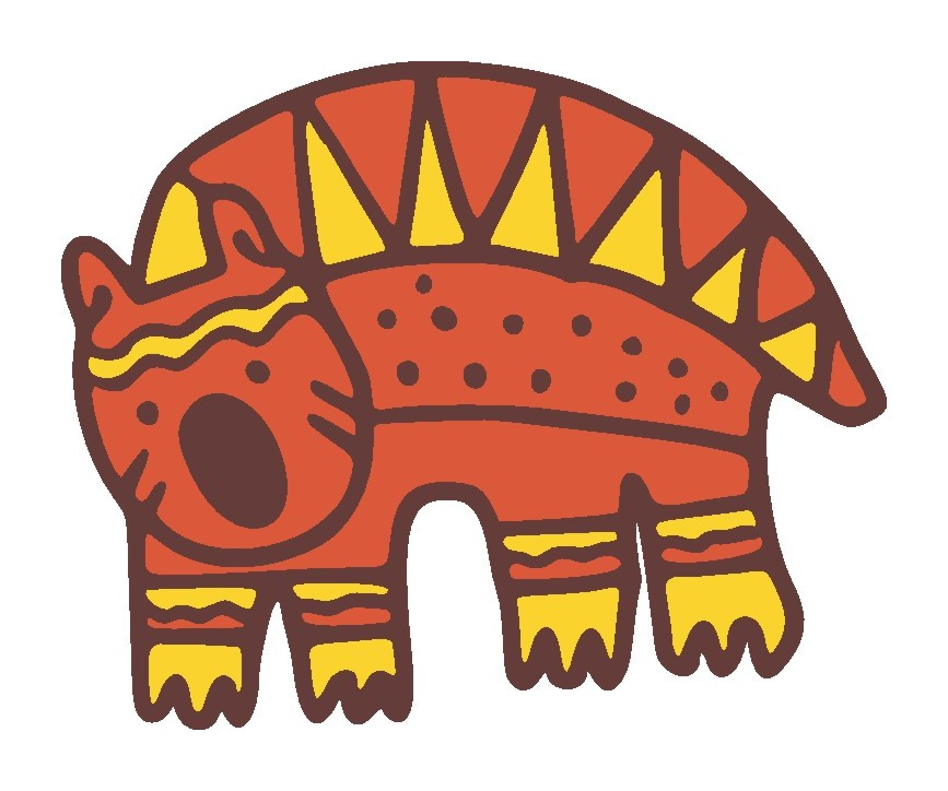 Wombat clipart aboriginal art Decal Wall Concepts Wombat Decal