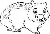Wombat clipart australian possum Clip Free Art Royalty wombat;