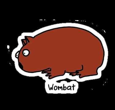 Wombat clipart cute Cartoon Wombat library Art Free
