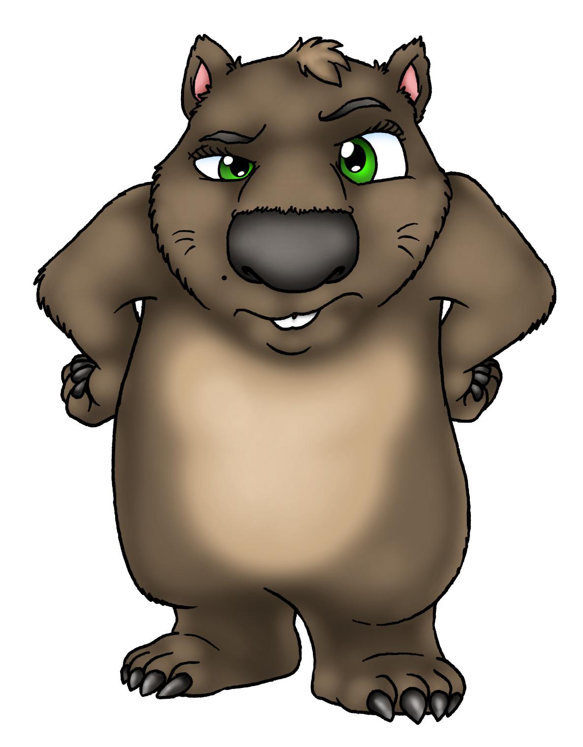 Wombat clipart cute Cartoon wombat Wombat photo#1 Cartoon