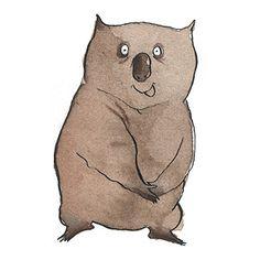 Wombat clipart cute Cute wombat Search Pinterest illustration