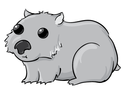 Wombat clipart cute Wombat Free Clip Art Cute