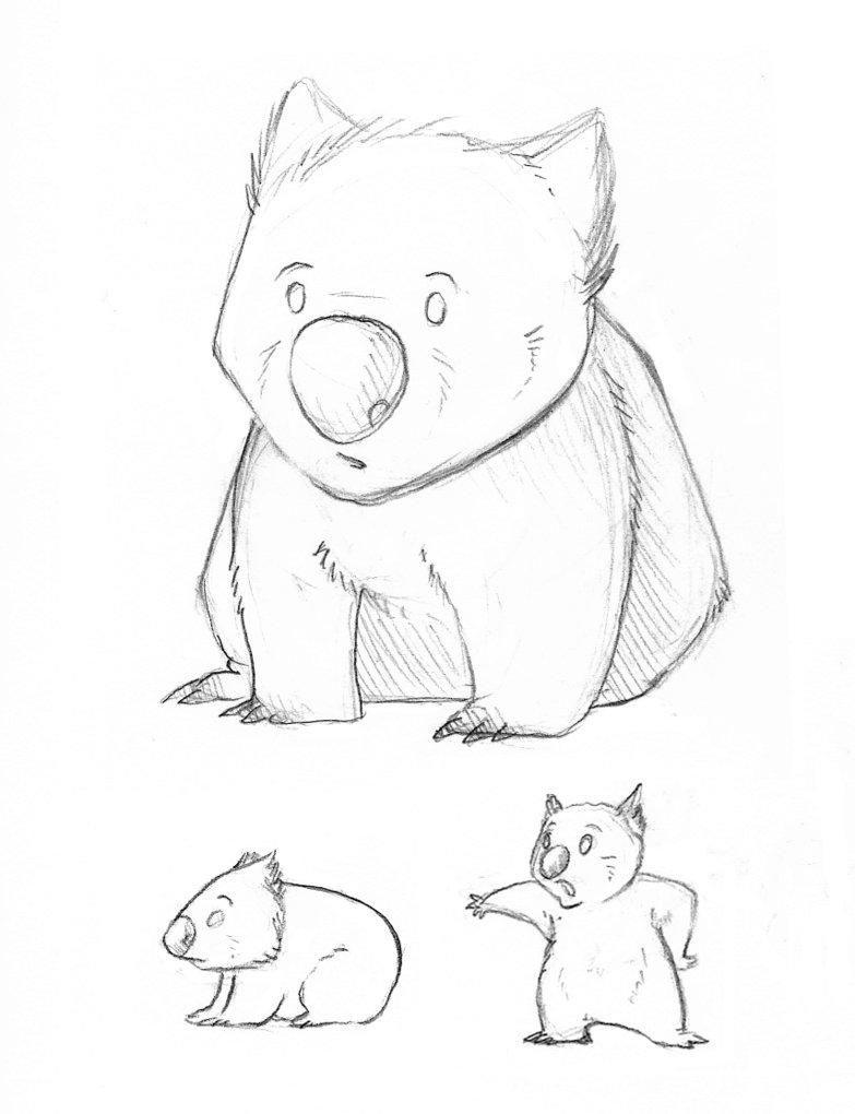 Wombat clipart cute Cute wombat Drawing Cute Wombat